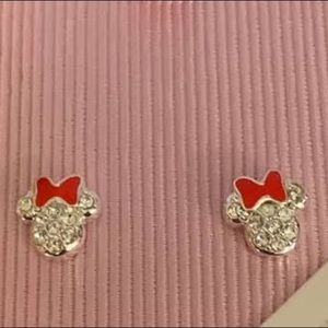 Minnie Mouse Earrings w/Swarovski Crystals Disney